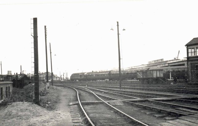 View of the railway lines from the carriage sheds