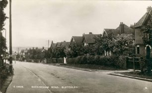 Buckingham Road looking towards Eight Belles, 1939