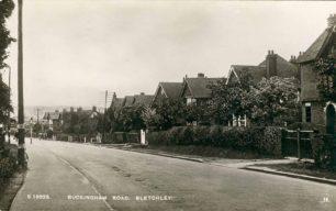 Buckingham Road looking towards Eight Belles, 1939