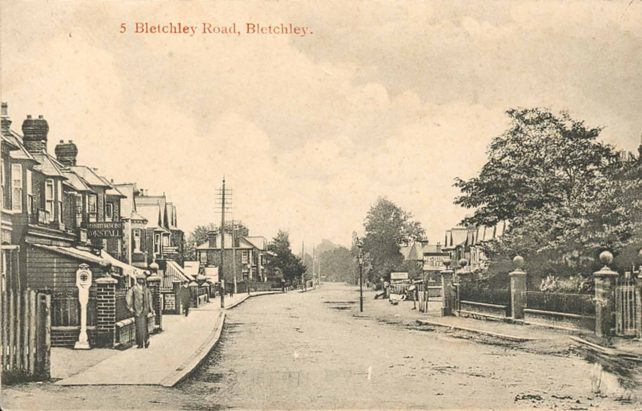 Bletchley Road looking east near Oliver Road