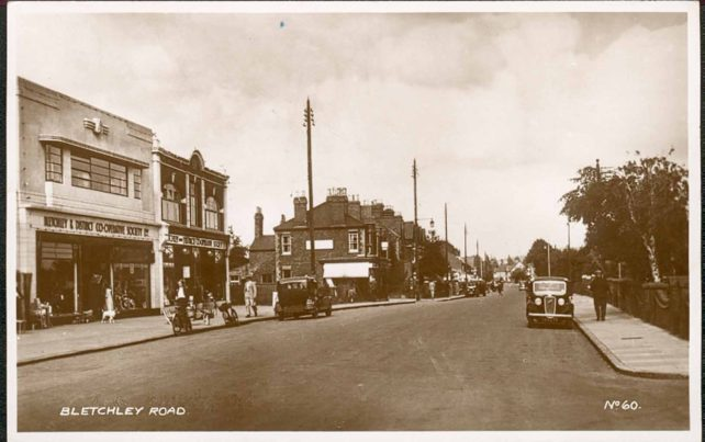 Bletchley Road with Co-op Department Store