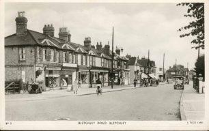 Bletchley Road between Co-op and Railway goods yard 1952-53