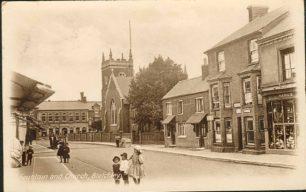 Horse Trough and St. Martin's Church, Fenny Stratford.
