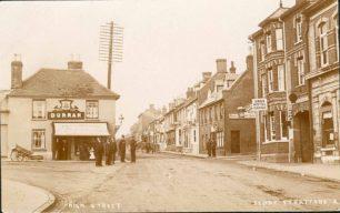 High Street, Fenny Stratford - Durran's Shop and Swan Hotel