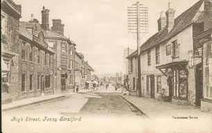 High Street, Fenny Stratford looking south towards Swan Hotel