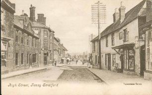 High Street, Fenny Stratford looking south towards Swan Hotel