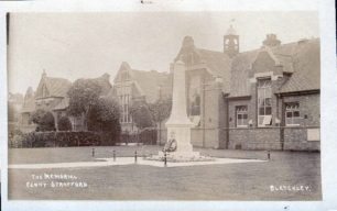 War memorial outside Bletchley Road Schools
