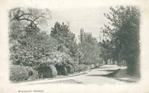 Entrance road to St. Mary's Church, Bletchley