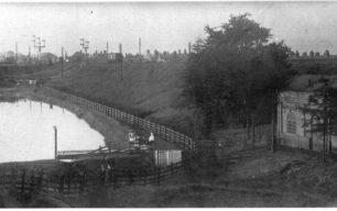Newfoundout and railway embankment
