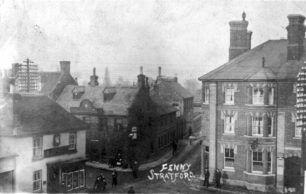 Fenny Stratford cross-roads from St. Martin's Church tower