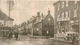 Fenny Stratford showing Swan Hotel, Rose and Crown, and Durran's shop