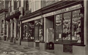 Vaughan and Bartlett shops in High Street, Fenny Stratford