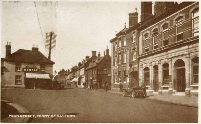 High Street Fenny Stratford showing Durran's optician