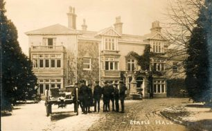 Staple Hall, showing soldiers with carriage