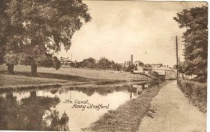 The canal, Fenny Stratford looking towards Nagle's factory