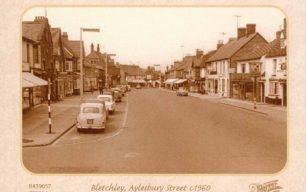 Aylesbury Street looking towards crossroads from Denmark Street