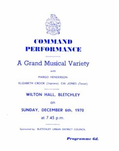 Concert Programme for BUDC 1970