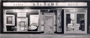 Holdoms Music New Front 1952 night