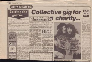 Collective Gig For Charity [newspaper cutting]