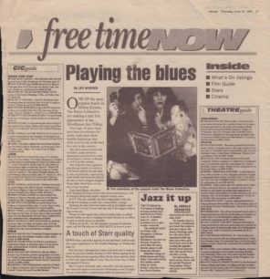 Playing The Blues [newspaper cutting]