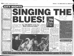 Singing The Blues! [newspaper cutting]