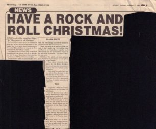 Have A Rock And Roll Christmas! [newspaper cutting]