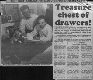 Treasure chest of drawers! [newspaper article]