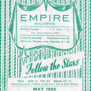 Programme-Empire Cinema, Wolverton 1955