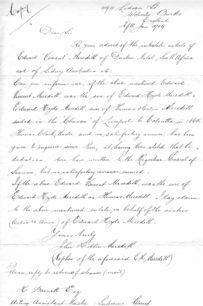 Letter-John Hilton Meredith