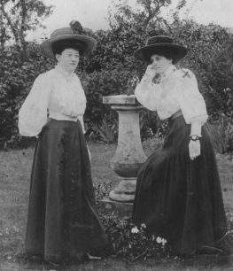 Eliza Parker (right) and friend
