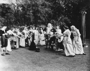 A performance of the Maypole Dance - Ken Shean, 2nd from the right