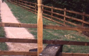 Carved pathway posts