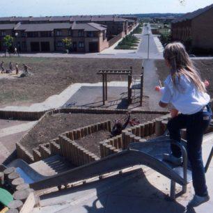Children at new Oldbrook play area