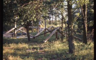 children's play area in wooded area at Simpson