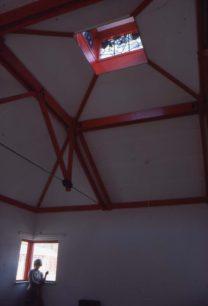 Stained glass lantern light windows