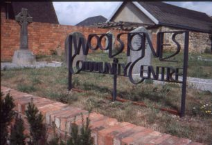 Sign for Woolstones Community Centre