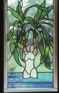 Stained glass female form