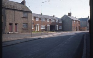 New terraced houses in an old street