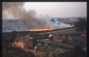 Crop burning at Willen