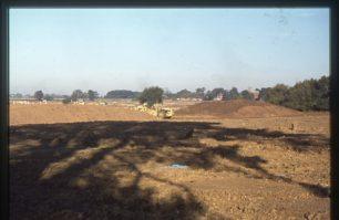 Construction near Willen looking towards church