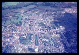 Aerial view of Stony Stratford Centre