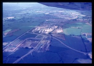 Aerial view of Kiln Farm and Galley Hill