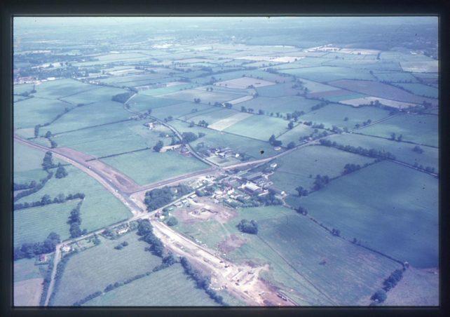 Aerial view of Simpson Village