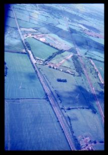 Aerial view of Loughton pits and A5