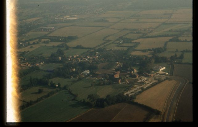 Aerial view of Wavendon Tower