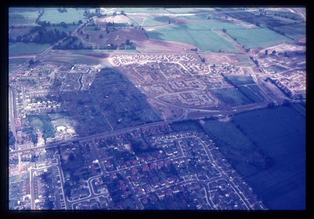 Aerial view of Stony Stratford