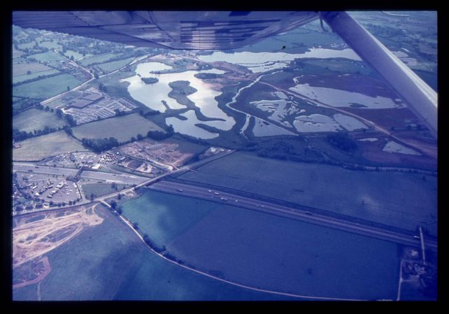 Aerial view of Loughton pits