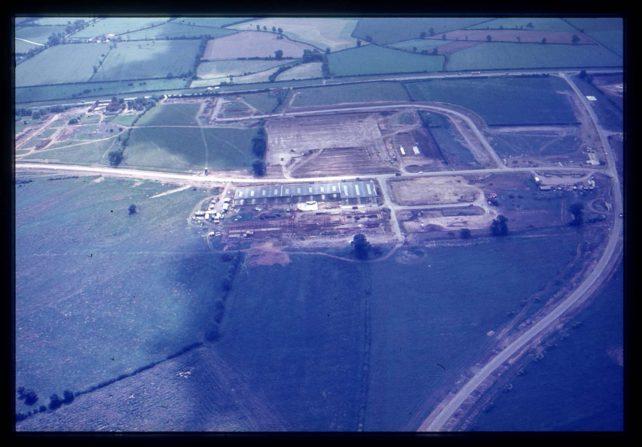 Aerial view of Kiln Farm industry