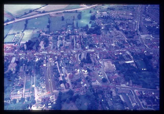 Aerial view of Stony Stratford