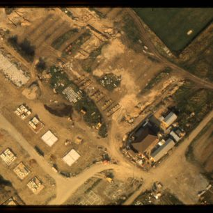 Aerial views of unidentified areas of MK